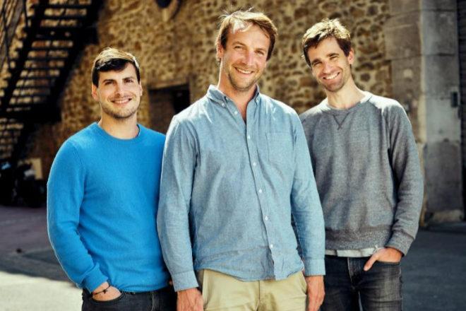 Los tres fundadores de Back Market: de izquierda a derecha, Quentin Le Brouster, Thibaud Hug de Larauze y Vianney Vaute.