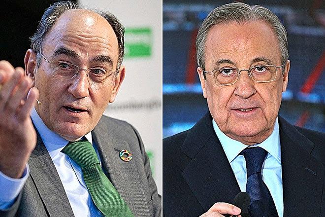 Florentino Pérez (a la izquierda), presidente de Iberdrola, y Florentino Pérez, presidente de ACS.