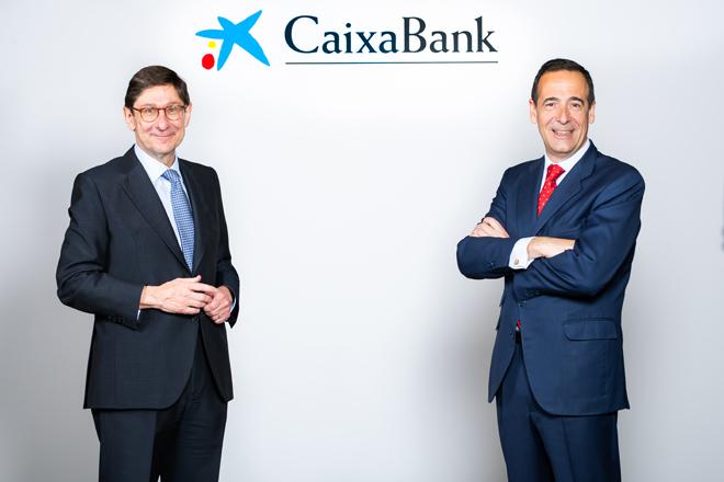 José Ignacio Goirigolzarri, presidente de CaixaBank, y Gonzalo Gortázar, consejero delegado de la entidad.