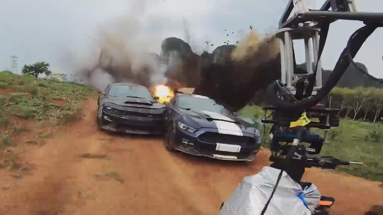 Así destrozan coches durante el rodaje de 'Fast & Furious 9'