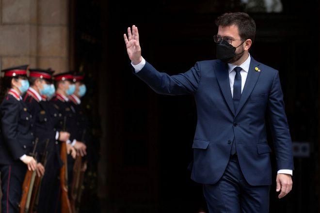 El nuevo presidente de la Generalitat Pere Aragonès.