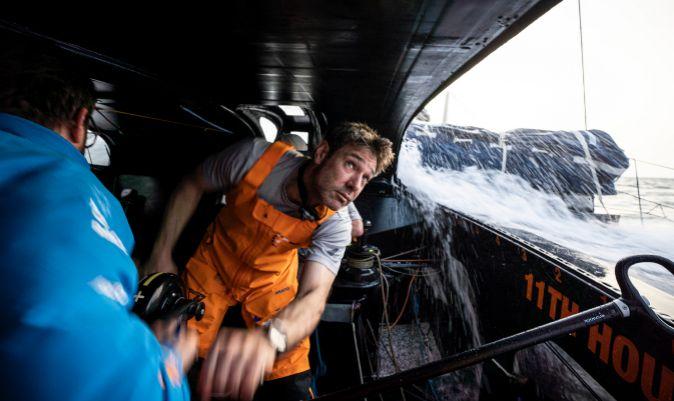 Simon Fisher, navegante del 11th Hour Racing.   AMORY ROSS