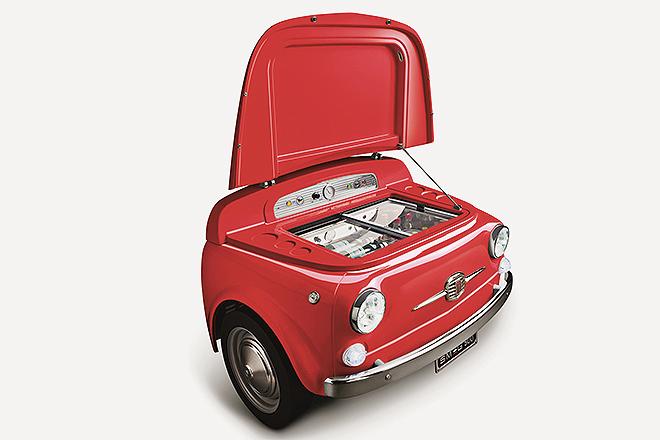 El morro de un Fiat que refrigera de maravilla.