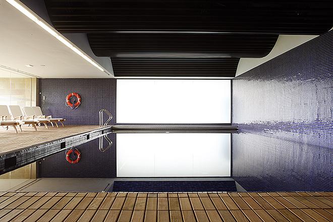 La piscina climatizada de agua salada.