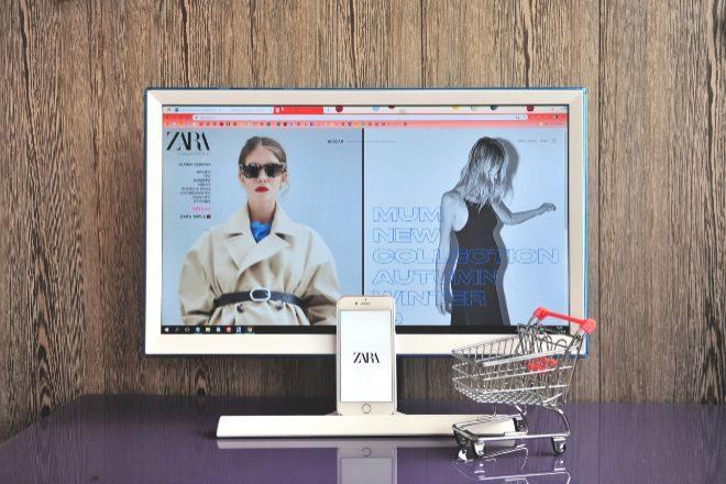 Página web de Zara.