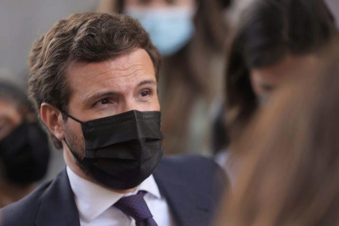 En la imagen el líder del Partido Popular, Pablo Casado