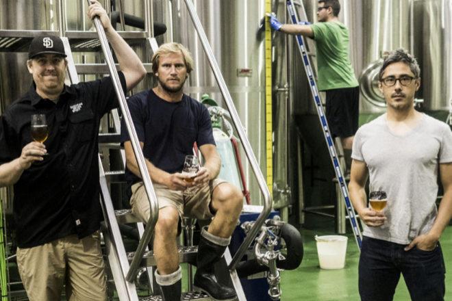 De izqda. a dcha., Benjamin Rozzi, Benjamin Matz y Kevin Patricio, fundadores de Basquelad Brewing.