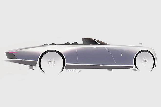 Uno de los diseños del Boat Tail, primero dibujado a mano y luego llevado a un modelo de arcilla a escaña real para darle forma definitiva.