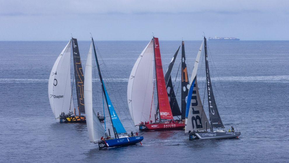 Parte de la flota de The Ocean Race Euope, este miércoles a su...