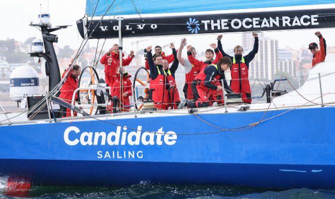 La tripulación del barco austriaco, celebrando su triunfo.   SAILING ENERGY