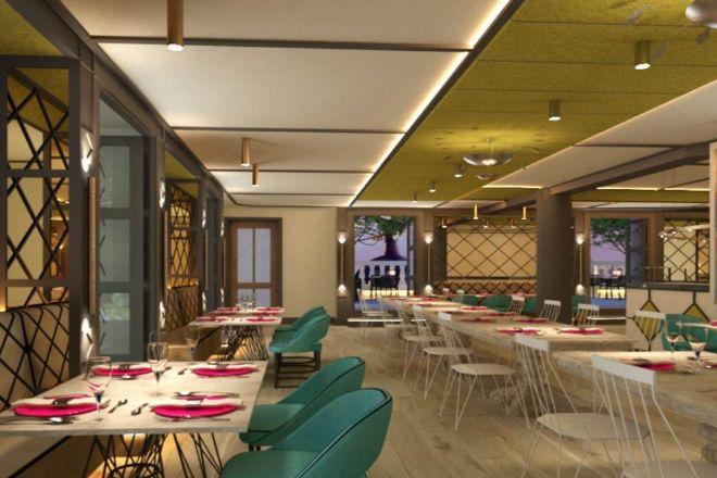 La pizzería napolitana situada en la novena planta del hotel.