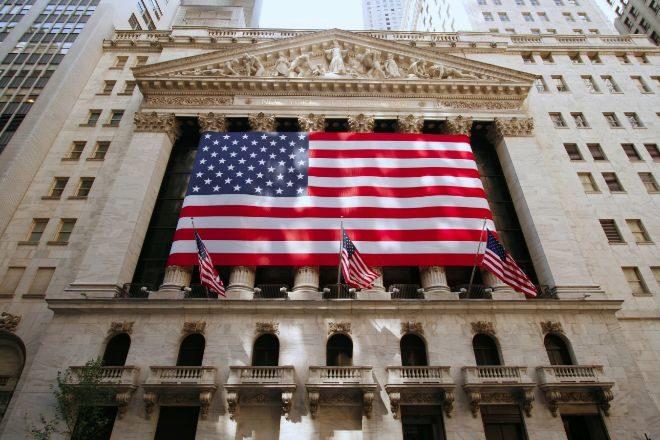 Fachada de la Bolsa de Nueva York.