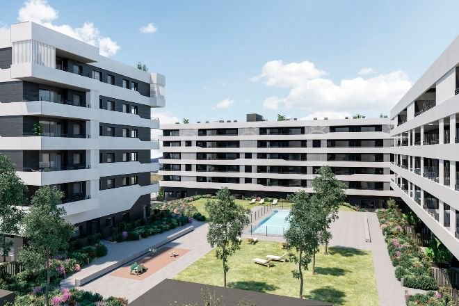 Promociones Sant Just Homes III y IV, dos conjuntos residenciales de Neinor situados junto al Parque Natural de Collserola.