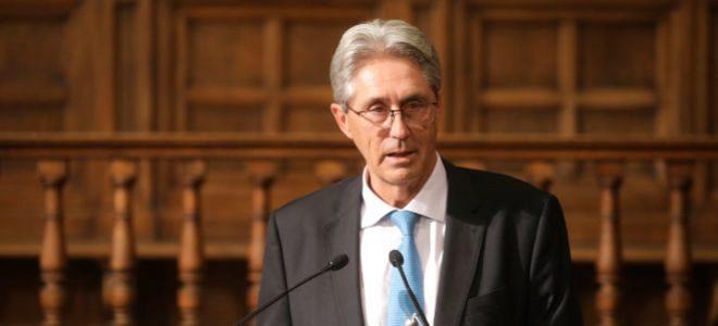 José Vicente Saz Pérez, rector de la Universidad de Alcalá de Henares.