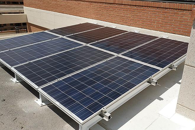 De media, una instalación se compone de ocho o nueve paneles.