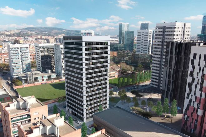 Proyecto build to rent en L'Hospitalet de Llobregat promovido por Aedas.