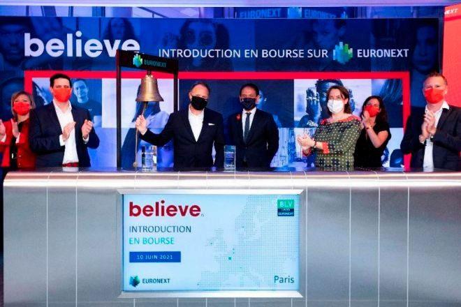 Salida a Bolsa de Believe en Euronext Paris.