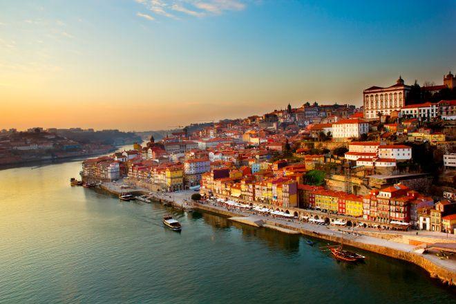 Vista de la ciudad de Oporto, en Portugal.