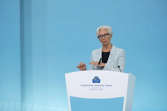 Christine Lagarde, presidenta del Banco Central Europeo.