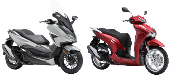 Los Forza 350 y SH 350 de Honda.