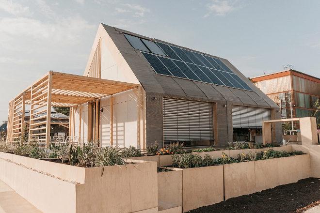 Reinterpretación de la tradicional barraca valenciana de Onarc para el proyecto Azalea UPV.
