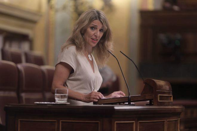 Yolanda Díaz, vicepresidenta tercera del Gobierno y ministra de Trabajo.