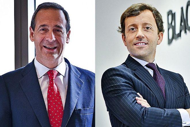 Gonzalo Gortázar, consejero delegado de CaixaBank, y Aitor Jauregui, responsable de BlackRock para España, Portugal y Andorra.