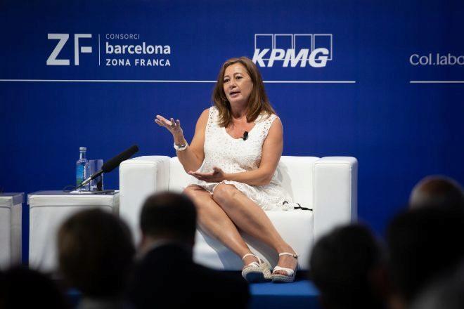 La presidenta balear, Francina Armengol, en la reunión del Círculo de Economía.
