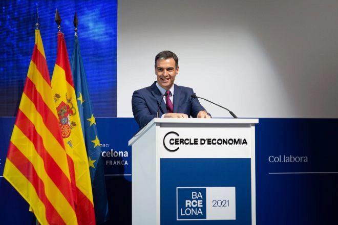 El presidente del Gobierno, Pedro Sánchez, clausura la XXXVI Reunión del Círculo de Economía.
