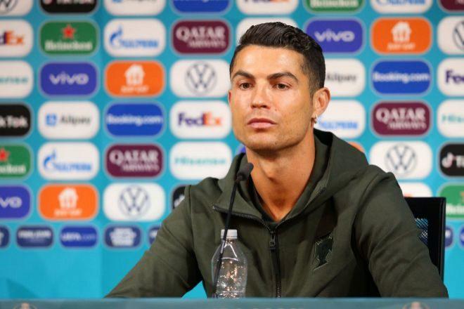 Cristiano Ronaldo en una rueda de prensa.