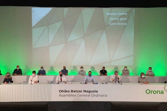 Asamblea anual de socios de la cooperativa Orona, con sede en Hernani.