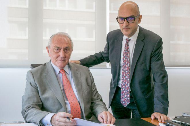 Jaume Dedeu y Donato Muñoz, presidente y consejero delegado de Cevasa, respectivamente.