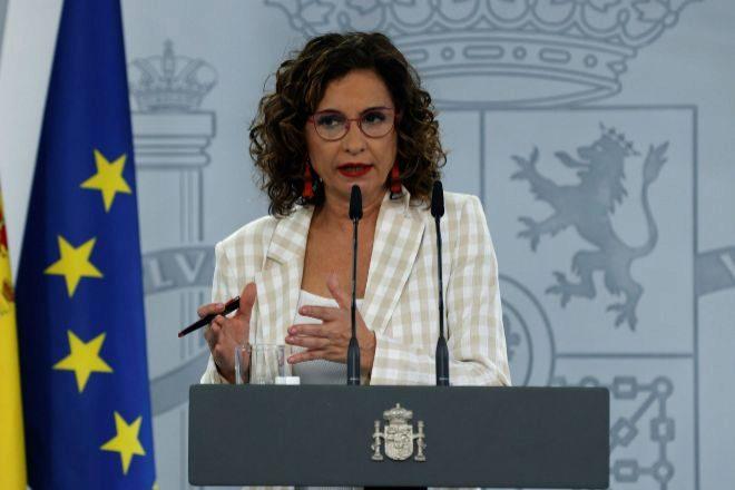 La portavoz del Gobierno y ministra de Hacienda María Jesús Montero.