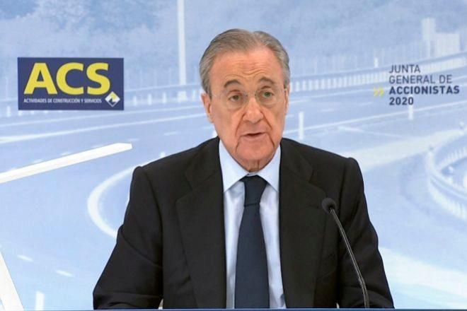 El presidente de ACS Florentino Pérez.