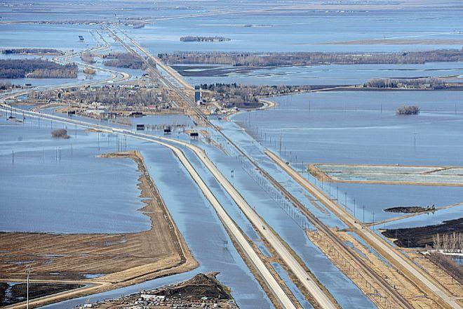 Imagen de las inundaciones de 2011 en Fargo (Dakota del Norte, EEUU).