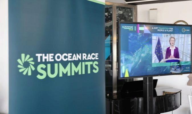 Ursula von der Leyen, durante su intervención en el The Ocean Race Summit Europe. | RAFA GALÁN