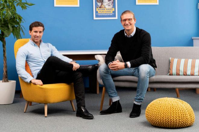 Gregor Müller, COO y cofundador de GoStudent, y Felix Ohswald, CEO y cofundador de GoStudent.