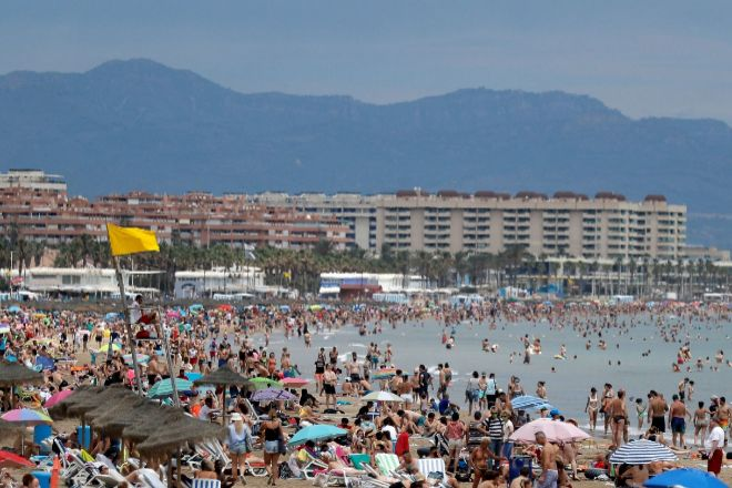 Las playas de Valencia el pasado 20 de junio.