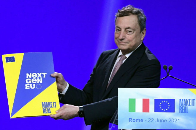 Mario Draghi, expresidente del BCE, es ahora el jefe de Gobierno en Italia.