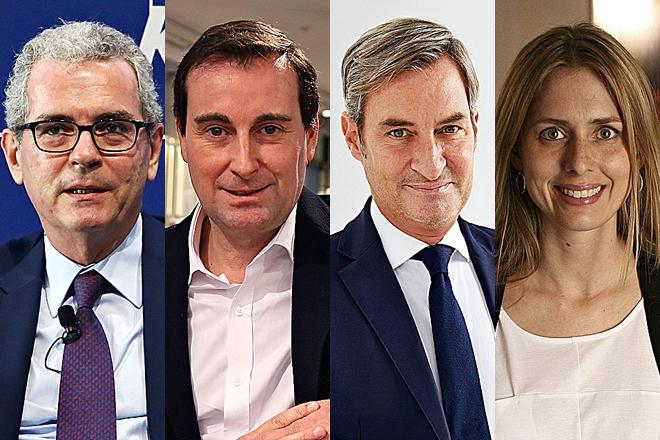 Pablo Isla, presidente de Inditex, Toni Ruiz, consejero delegado de Mango, Jaume Miquel, presidente y CEO de Tendam, y Helena Helmersson, CEO del grupo H&M.