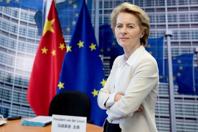 Ursula von der Leyen, presidenta de la Comisión Europea, antes de la última cumbre bilateral con China, celebrada en formato telemático debido a la pandemia del Covid-19.
