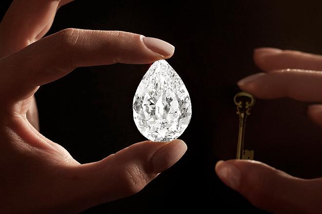 The Key 10138 es el décimo diamante flawless D de más de 100 quilates que sale al mercado en toda la historia y el tercero de talla pera.