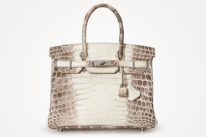 Bolso Birkin de Hermès en cocodrilo blanco, uno de los lotes de la subasta Important Jewels and Handbags.