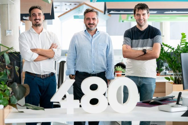 Equipo fundador de Cuatroochenta: Alfredo Cebrián, Vicente Montesinos y Sergio Aguado.