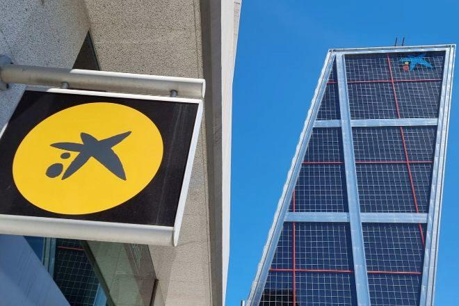Sucursal y sede de CaixaBank en Madrid.