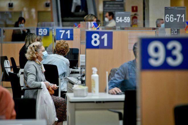 Oficina de la Agencia Tributaria en Guzmán el Bueno en Madrid.