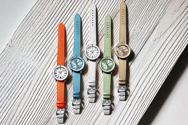 Los cinco relojes de la colección cápsula Pastel Paradise.