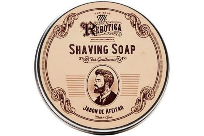Jabón de afeitar, 7,50 euros, 75 gr.