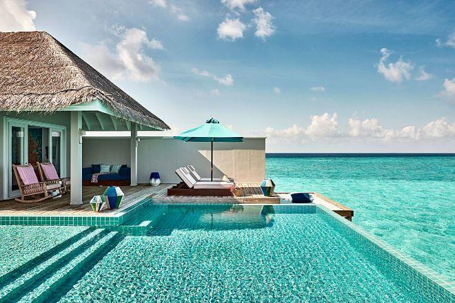 Vista de una de las villas con piscina privada.