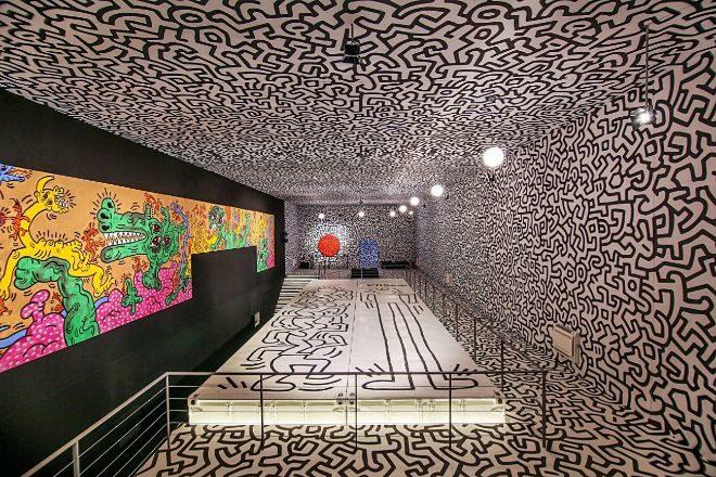 La obra de Keih Haring en La Nave Salinas.